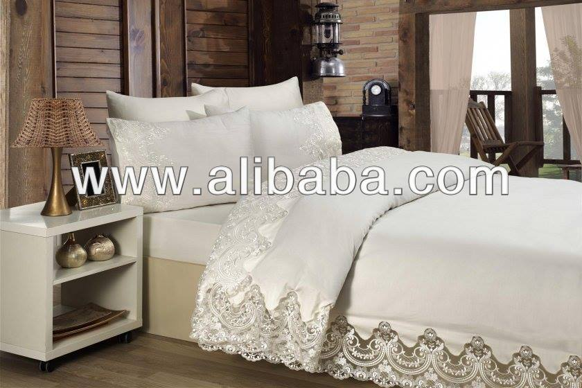 embroidery bed linen