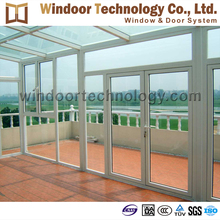 Customized design combined casement glass aluminum door and window