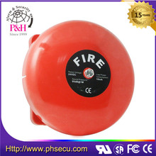 Electric fire alarm gong bell