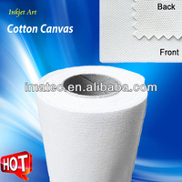 Polyester & Cotton Inkjet Canvas Rolls 200gsm - 400gsm Waterproof For Water-based Ink, Matte & Glossy