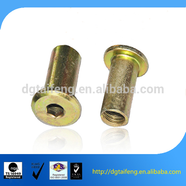 galvanized carbon steel flat head insert nuts