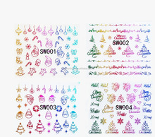3d christmas style design professional nail sticker decoration