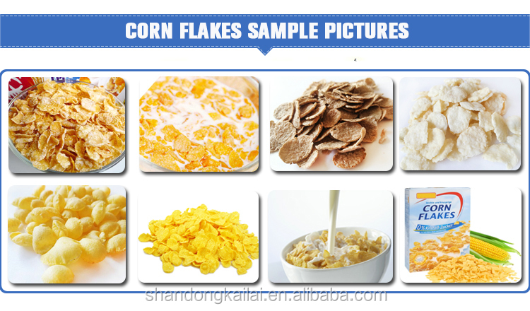 Puff Snack Corn Flakes Syrup Breakfast Cereal Machine