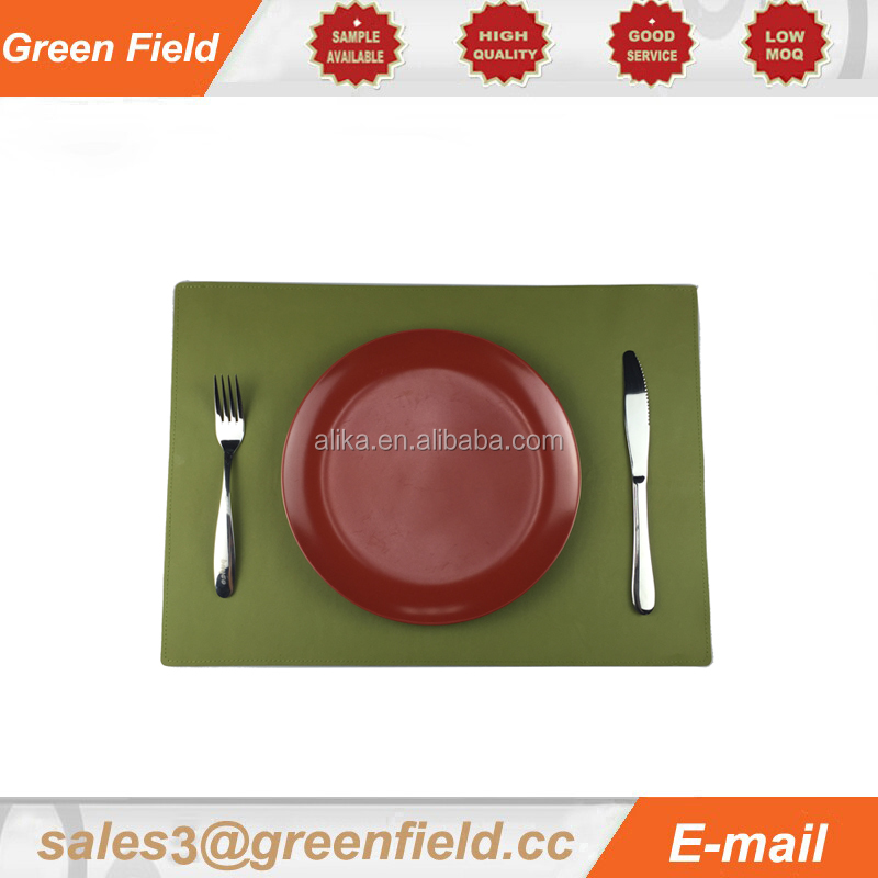 Green paper placemat,recycled paper placemats,decorative paper placemats