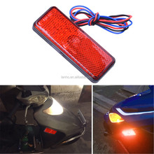 2017 12V Universal LED Reflector White Red Yellow Rear Tail Brake Stop Marker Light For JEEP SUV Truck Trailer Motorcycle Car