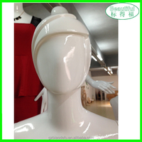 Faceless wrapped egg head mannequin for hat display