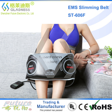 GLADNESS NEW Abdominal Belt With Two Functions As Vibration Slimming And EMS Massage
