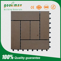 wooden color wood plastic composite decking tiles for outdoor construction