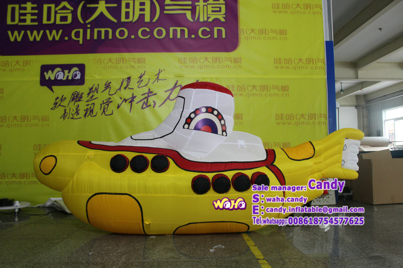 Customized inflatable banana boat model for promotion / advertising C-288