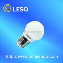 LESO 2017 high quality and low price 2W LED bulb light G45 A60 A65
