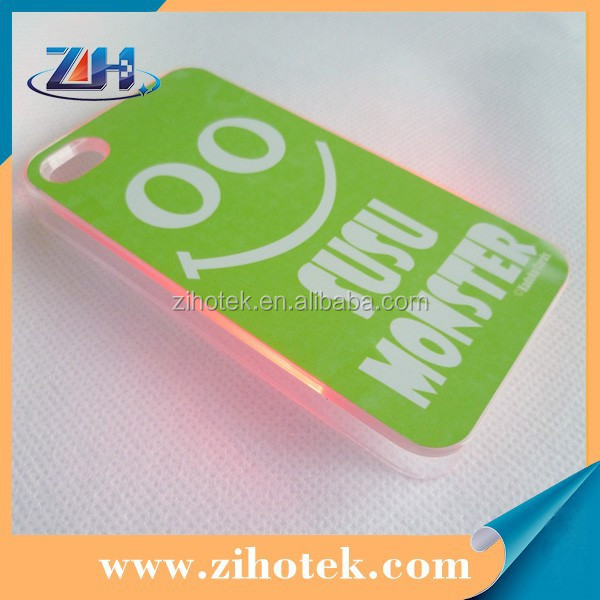 Hard PC Sublimation LED Case for iphone4/4s,for iphone 4/4s LED case sublimation