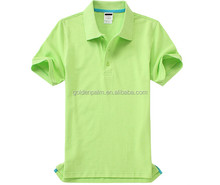 2017 OEM/ODM Custom New Design plain dyed unisex polo t-shirt short sleeve polo shirt 100% cotton free size green polo