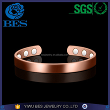 High Polished Magnetic Cuff Copper Bangle Health Bangle Bracelet Wholesale Factory