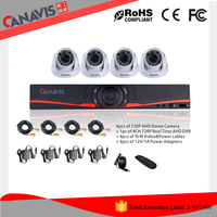 2016 HOT SELL 720p 4ch h.264 cctv 1Megapixel AHD Indoor Dome camera kit