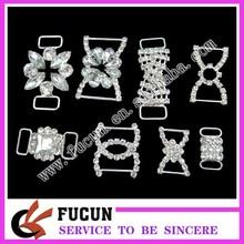 wholesale custom crystal rhinestone connector for mini bikini buckles