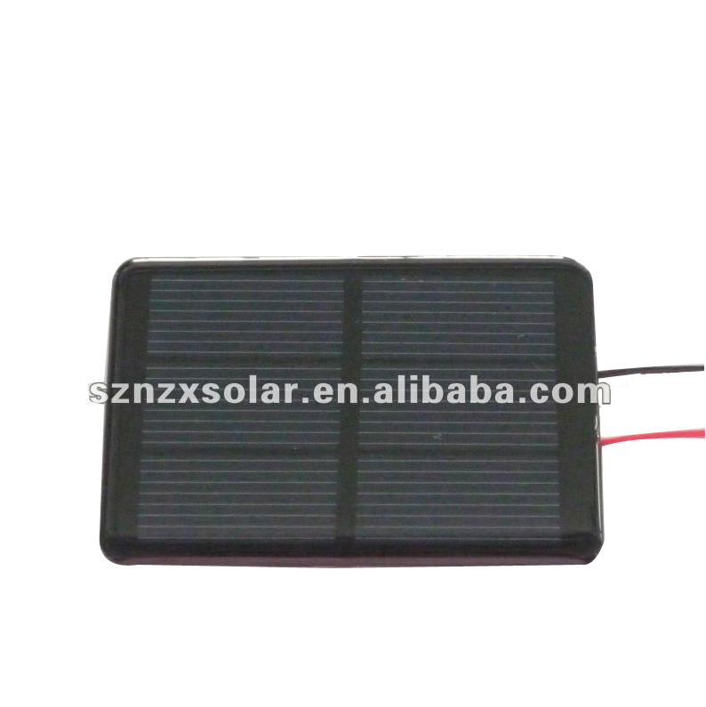 88x54mm 1.5V 350mA Small Epoxy Resin Solar Panel with Cable