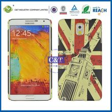 C&T PC national flag printing note3 cover for samsung galaxy skin
