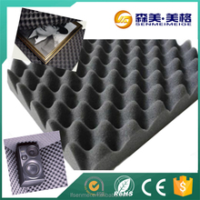 studio acoustic egg crate foam NBR PVC rubber foam CE certificate Fire blocking retardant sound absorbing soundproof material