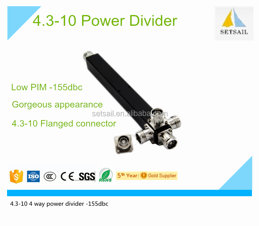 4.3-10 power divider with 4.3-10 type connector for Low PIM -155dbc 4.3-10 power divider for 2 3 4 way 4.3-10 Power Divider
