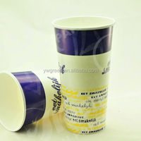 cold drink paper cup, frozen yoghurt cup