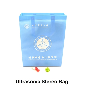 handled ultrasonic non woven glossy laminated tote bag wholesale