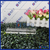 Factory 8.5 x 11 Transparent Single Sided Slant Back Acrylic Sign Holder With Acrylic Business Card Holder