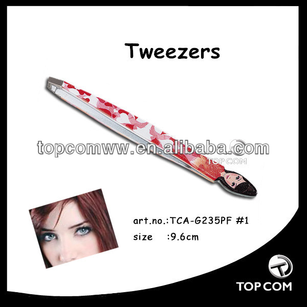 cartoon shape pink tweezers
