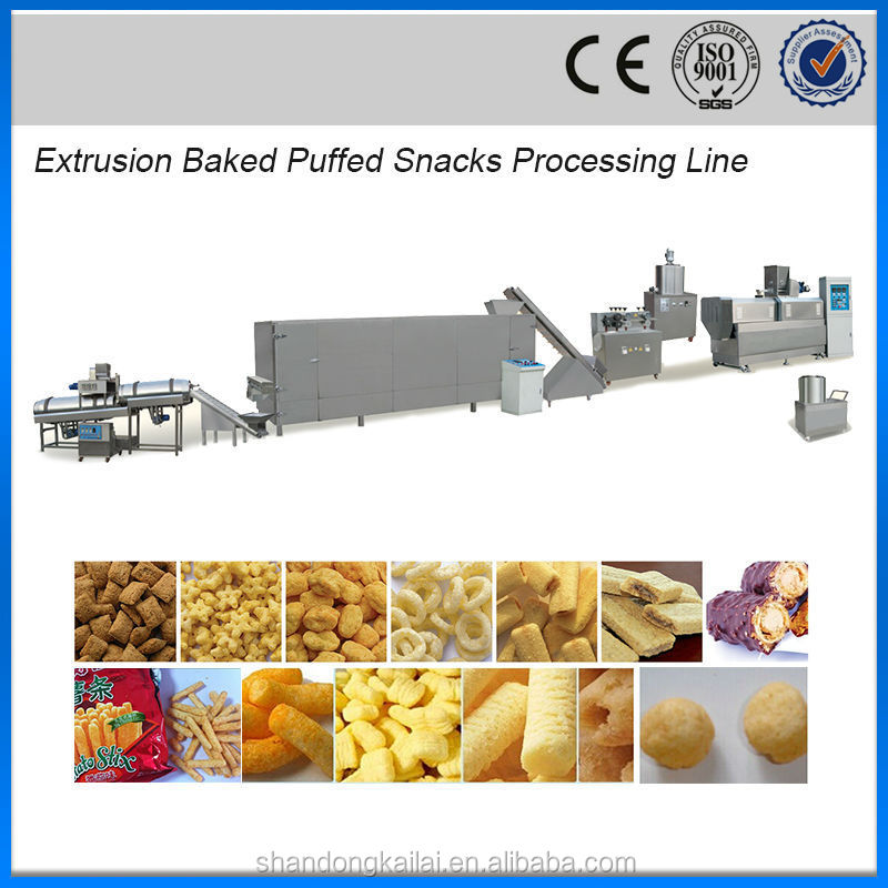 extruder baked puffed snacks corn chips machine