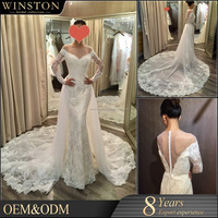 2015 The Most Popular white and royal blue wedding dress