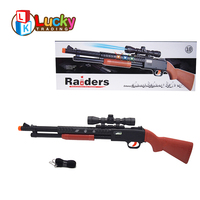 cool play battery operate realistic cheap plastic toy guns with colorful flashing