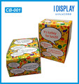customized color paper storage box for food