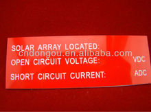 ABS 3M outdoor UV weatherproof Plastic Label Sheet