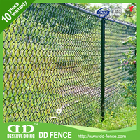 Low price 7 gauge/8 gauge/ 80 x 80 chain link fence made in China DD-FENCE