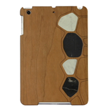 Alibaba Gold Supplier Custom Wood + PU Black PC Wood Case For iPad mini2
