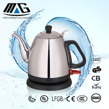 1.2L 1.5l Long Mouth Pour Over Coffee Electric Water Gooseneck Kettle