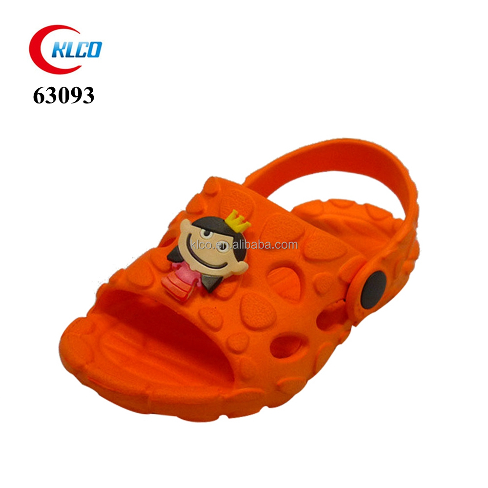 custom pattern kids orange beach sandal eva clog 2017