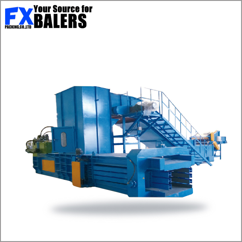 Baler press used in distribution centers