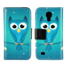 Flip Cases Cover For Samsung Galaxy S4 Mini Leather Wallet Mobile Phone Bag Cute Owl Case Coque Fundas Etui Factory Price
