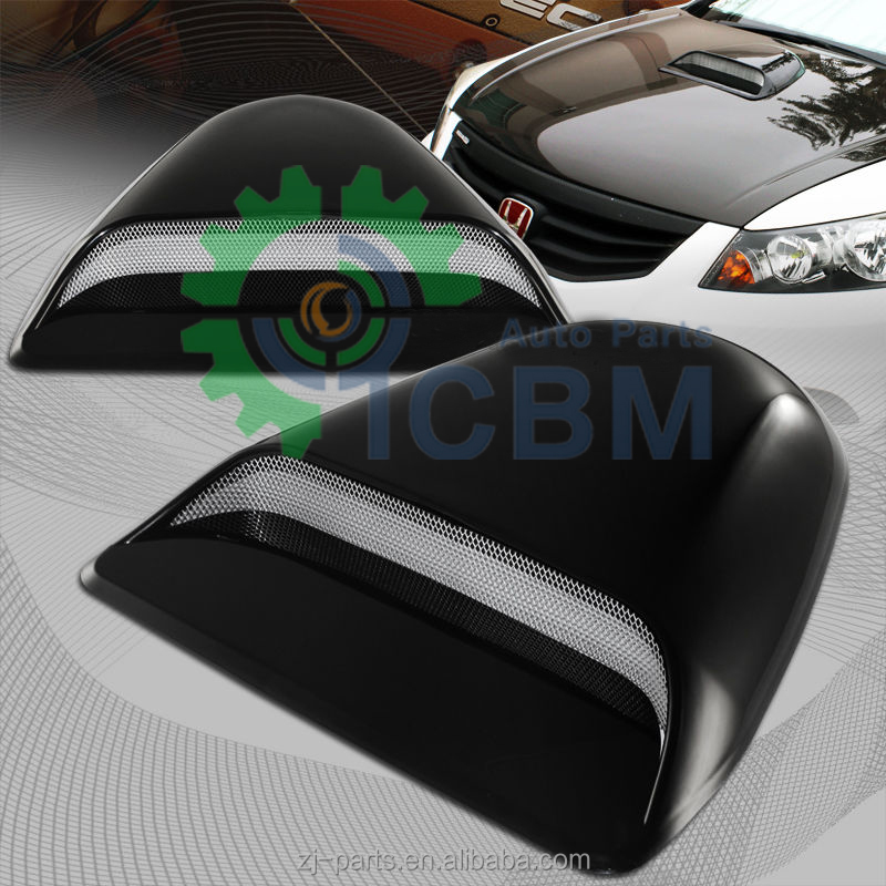 Universal Car Exterior Accessories Decorative Abs Air Flow Hood Scoop Buy Abs Air Flow Hood