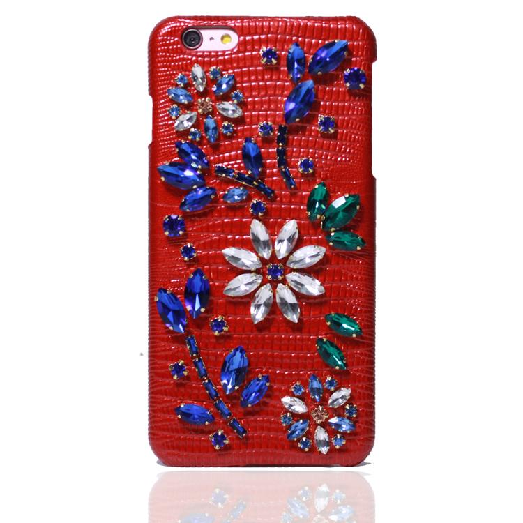 moda joya diseo de alta calidad con cuero para iphone plus