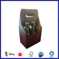 6 pack beer bottle paper packing carrier box