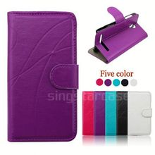 leather flip cover phone case for huawei honor u8860