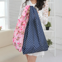 nylon cosmetic foldable shopping bag polyester carry bag