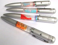 Electronic liquid pens with LED light and liquid inside liquid floating pens for promotion gift