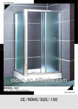 C621 6mm Simple Shower Square Free Standing Cornerview Shower cubicles
