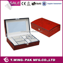 Luxury Treasure Chest Wooden Jewelry Box with Glossy Lacqure Surface