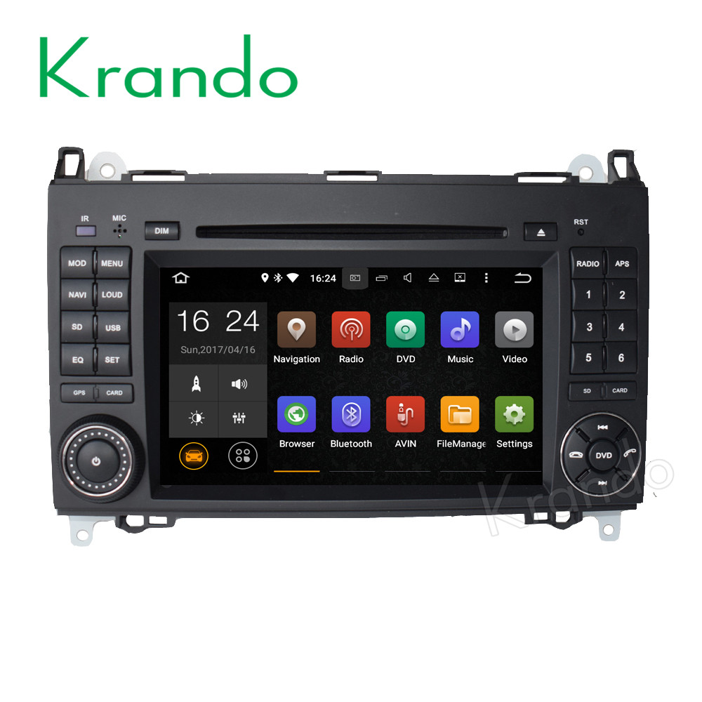 Krando Android 7.1 7'' car audio radio with gps multimedia for BENZ A Class w169 2004-2012 car stereo <strong>player</strong> wifi bt KD-MB200