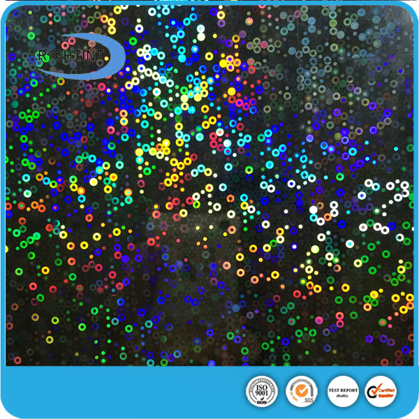 hot sale adhesive holographic paper for glass sticker