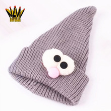 Fashion Design Lovely Combed Cotton Baby Hat Animal Design Funny Crochet Beanie Hat