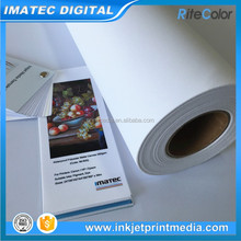 Waterproof 260gsm polyester fabric inkjet canvas for digital printing water-based inks